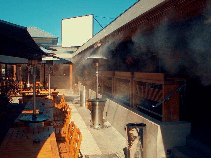 hệ thống phun sương quán cafe 2