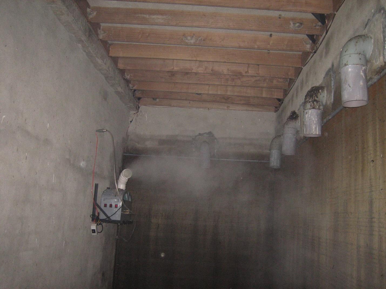 hệ thống máy phun sương tạo ẩm